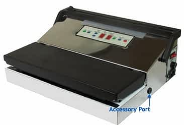 Pro1100 vacuum sealer with accessory port callout: Weston Vacuum Sealer Reviews: The Comprehensive Buyer's Guide
